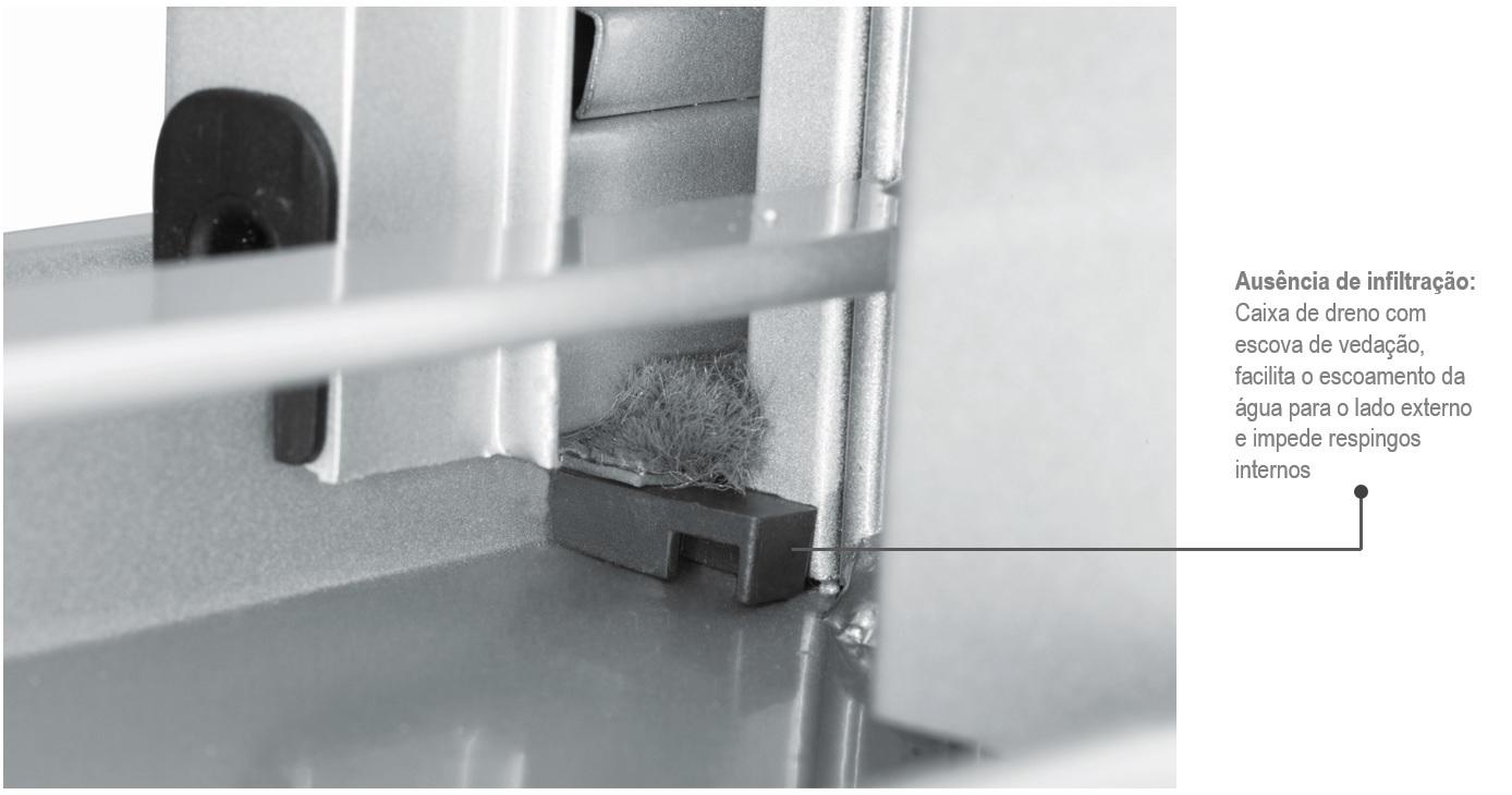 Janela Veneziana Prátika Aço 6 Folhas com Grade Quadriculada 100x150 - Branca