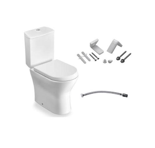 Kit Bacia com Caixa Acoplada e Itens de Instalação Nexo - Branco