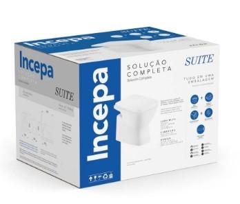 Kit Suite Bacia Convencional + Complemento de Instalação e Assento Softclose - Branco