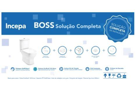 Kit Boss Bacia Com Caixa Acoplada e Itens de Instalação - Branco