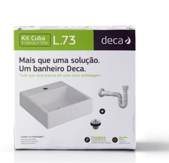 Kit Cuba de Apoio Quadrada Com Mesa Com Complementares L73 - Branco