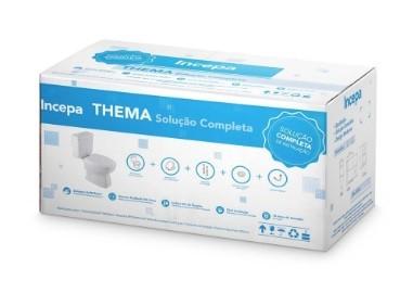 Kit Thema Bacia Convencional, Complemento de Instalação e Assento de PP Softclose Thema - Branco