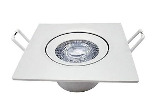 Lâmpada Spot Led Supimpa Quadrado 3W 6500k Bivolt - Branco