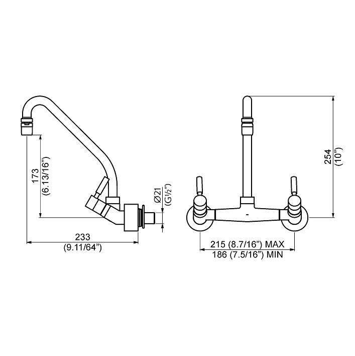 Misturador para Cozinha DN15 Slim - 1258 C36