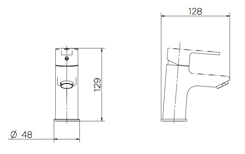 Misturador Monocomando de Mesa para Banheiro Gali - Cromado