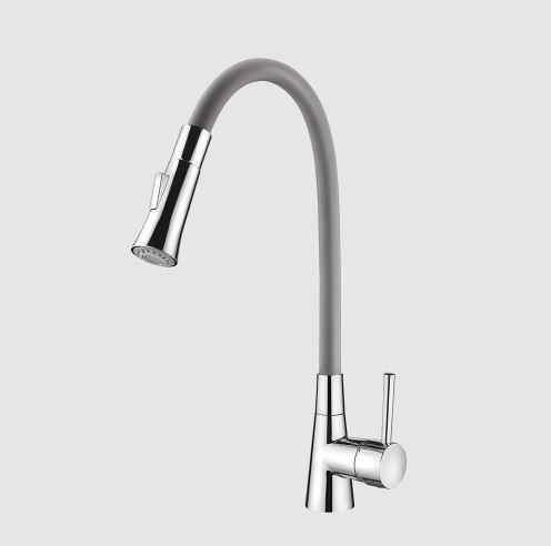 Misturador Monocomando de Mesa para Cozinha Bica Flexível 2257 G27 Grey
