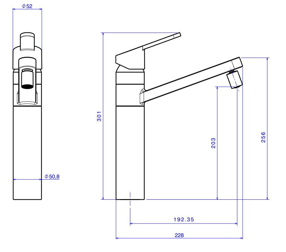 Misturador Monocomando de Mesa para Cozinha Flex Plus - Cromado