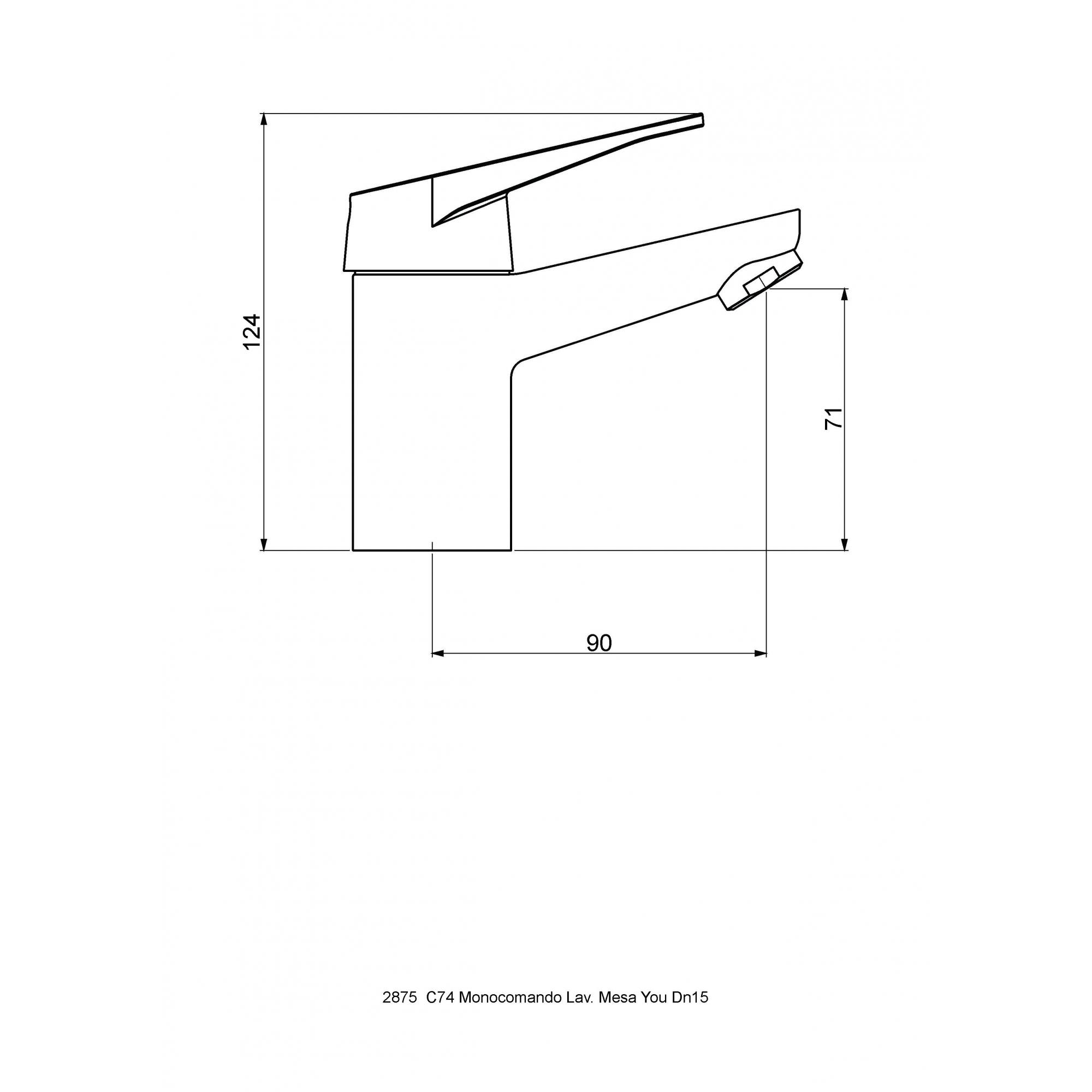 Misturador Monocomando Lavatório Mesa You Dn15 2875 C74 - INATIVO