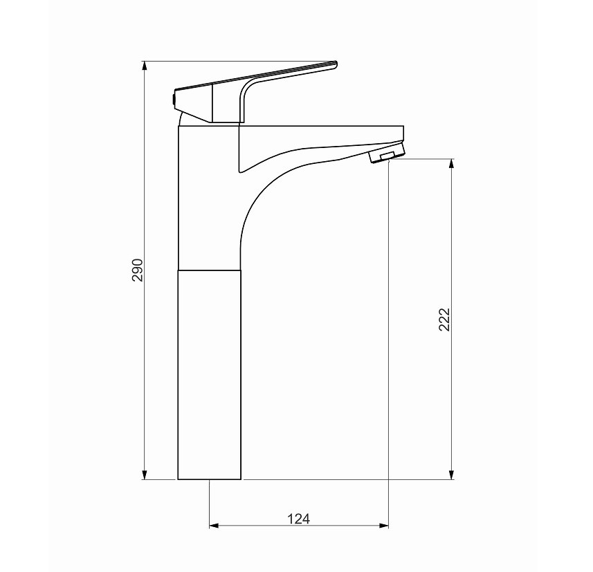 Misturador Monocomando para Lavatório 2877 C76