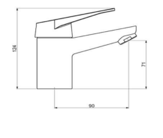 Misturador Monocomando para Lavatório de Mesa You Gap Dn15 2875 C75