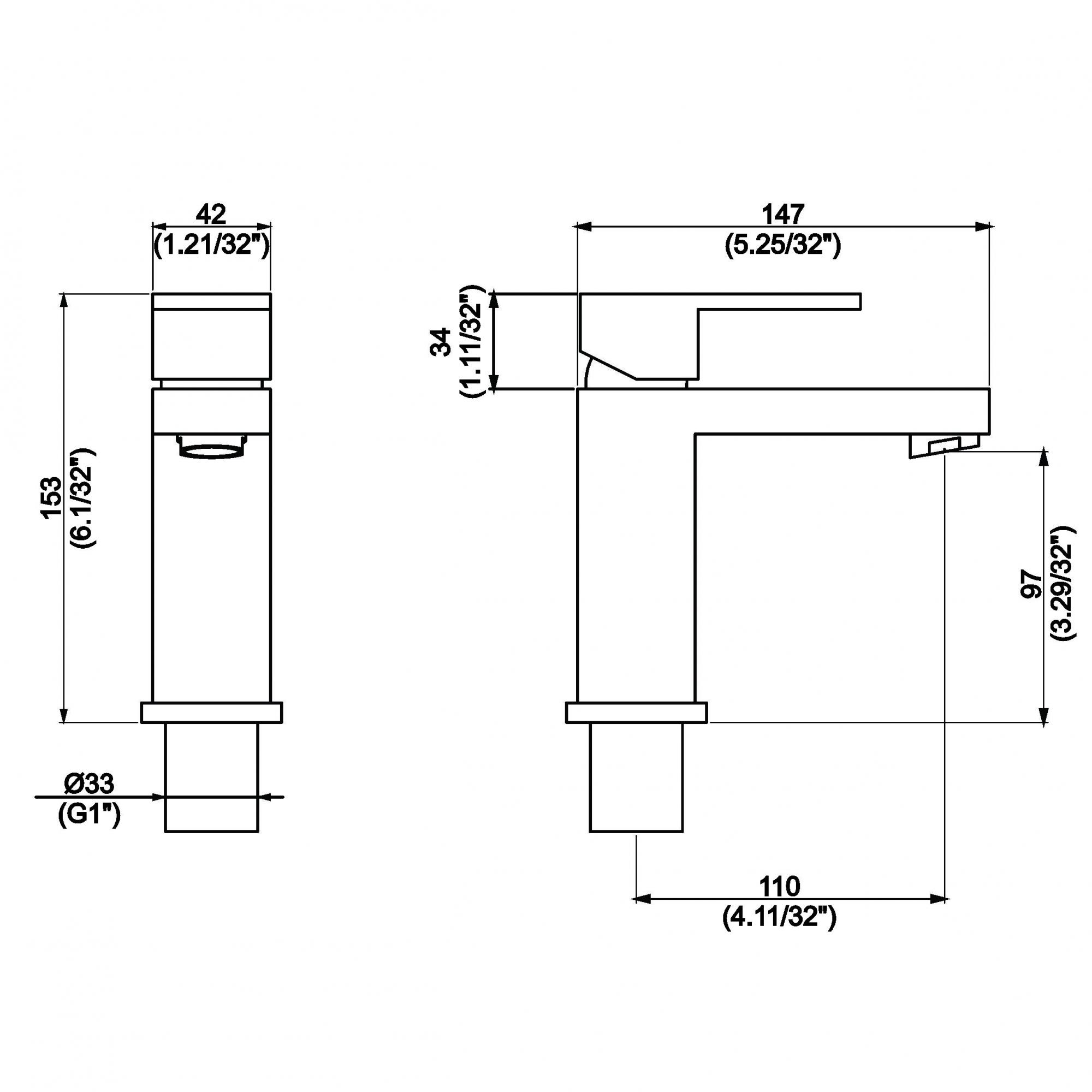 Misturador Monocomando para Lavatório Flaunt Dn15 2875 C-91