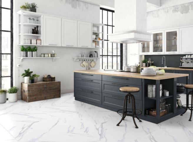 Porcelanato Bianco Carrara 90,5x90,5Cm