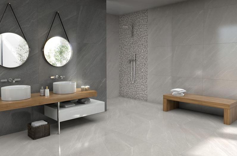 Porcelanato Limestone Grigio 83x83Cm Cx.2,07