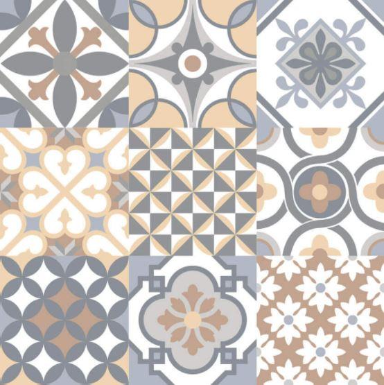 Porcelanato Patchwork Colorato 61x61Cm Cx.1,87