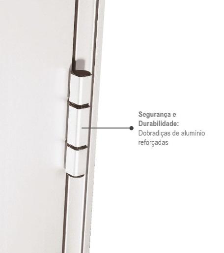 Porta Alumifort Esquerda com Lambri Horizontal 216x88