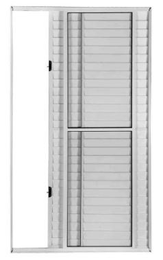 Porta Balcao Correr Lateral 3 Folhas 213x120x12 Cm Direita Riobras Aluminio A152.2