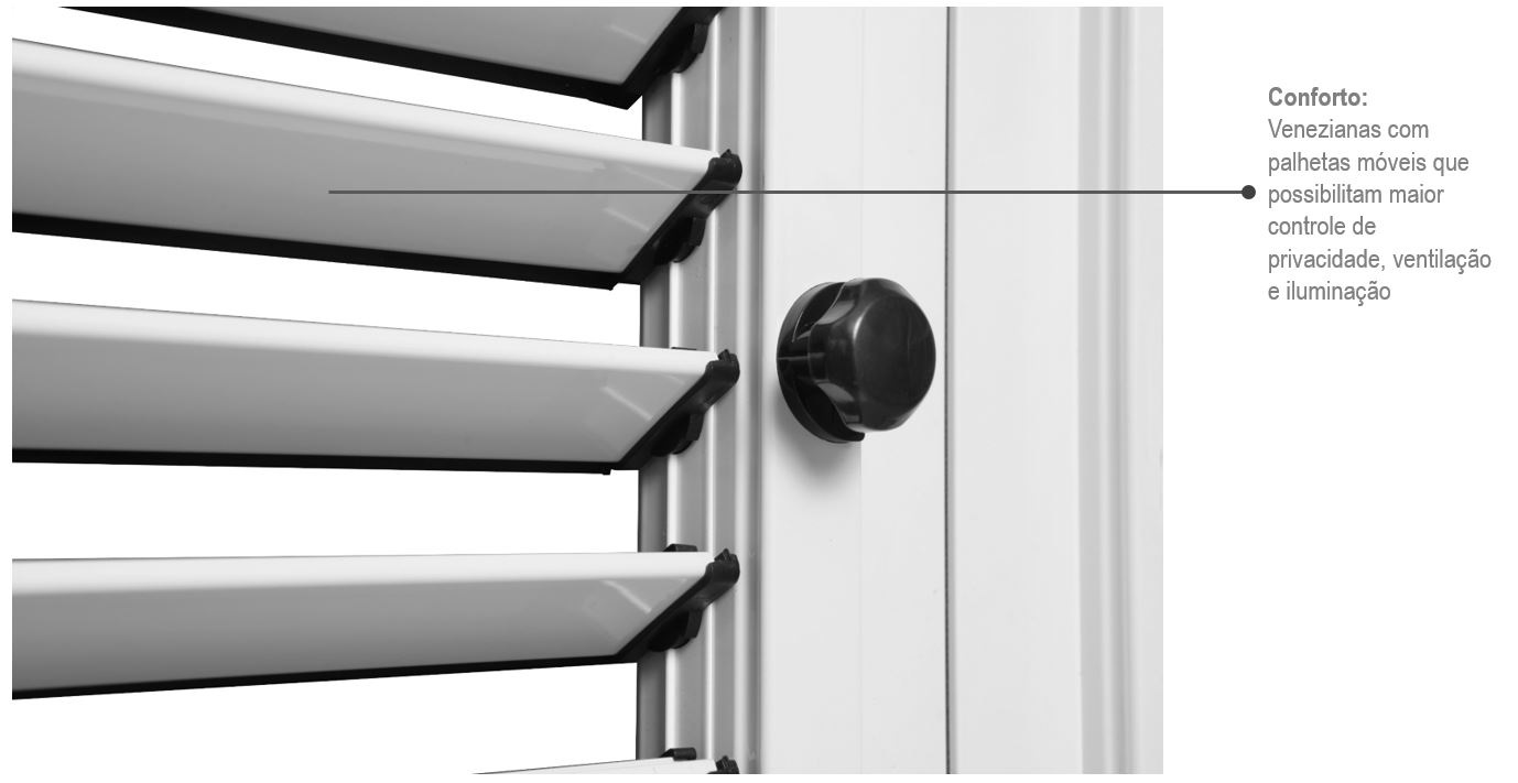 Porta Balcão de Correr Esquerda Aluminium 3 Folhas 216x160 - INATIVO
