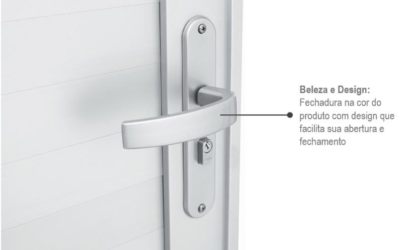 Porta Alumifort Direita  com Lambri Horizontal 216x88