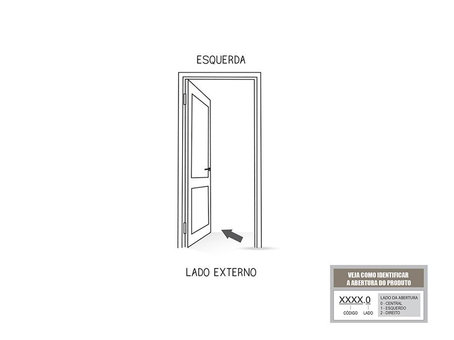 Porta de Giro Lambri C/ Maçaneta Esquerda Lucasa ideale 215x85x4,5