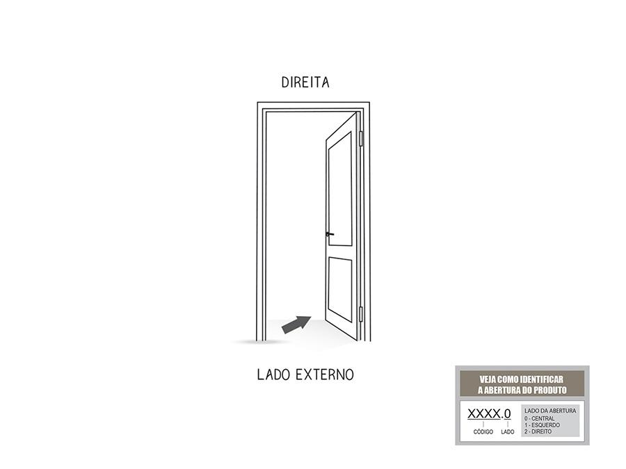 Porta de Giro Mista Com Basculante Direita Riobras Aluminio 215x85x6,5
