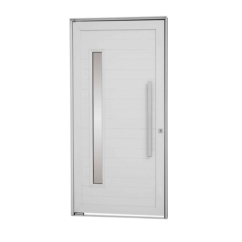 Porta Pivotante Alumifort Direita Lambris Horizontais Vidro e Puxador 216x100 - INATIVO