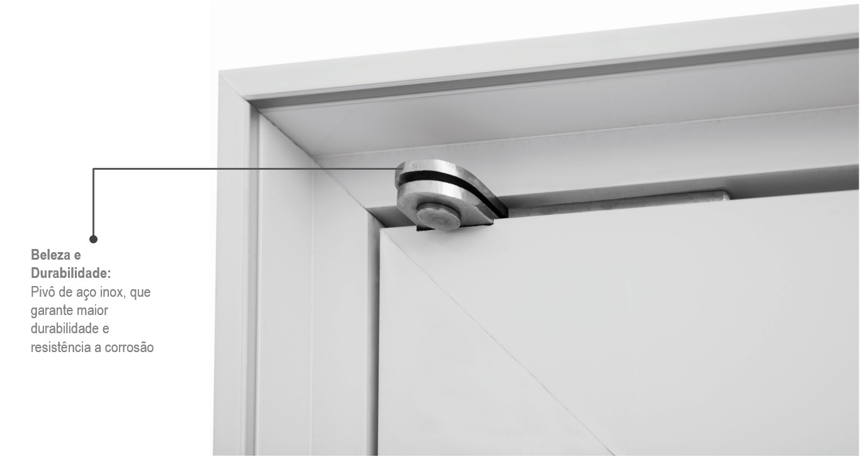 Porta Pivotante Alumifort Esquerda Lambris Horizontais Vidro e Puxador 216x100  - INATIVO