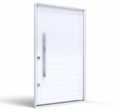 Porta Pivotante de Alumínio com Puxador sem Friso 215x105E - INATIVO
