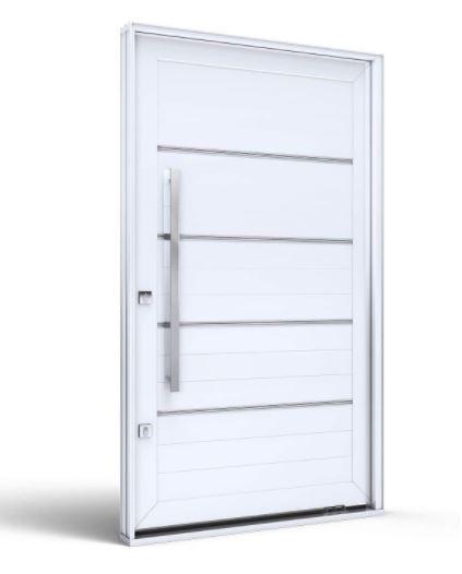 Porta Pivotante Direita com Puxador Eccellente 225Cmx130Cm - Branca - INATIVO