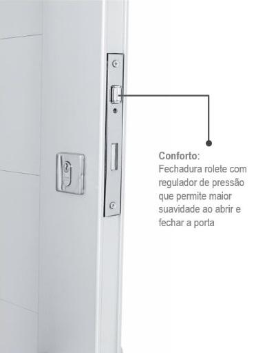 Porta Pivotante Esquerda Aluminium com Friso e Puxador 223,5x126,2 - INATIVO