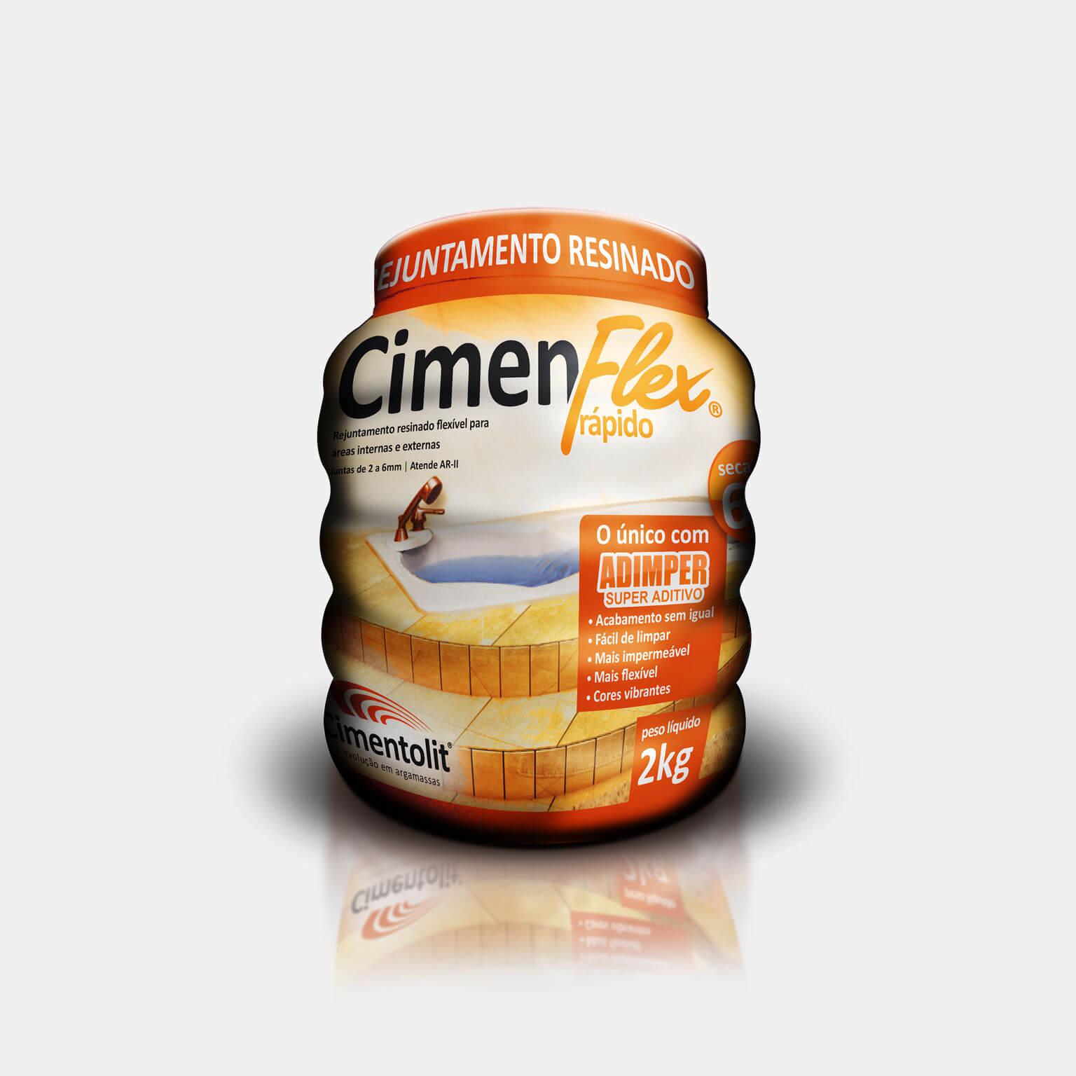 Rejunte Resinado Rápido Cimenflex 2kg