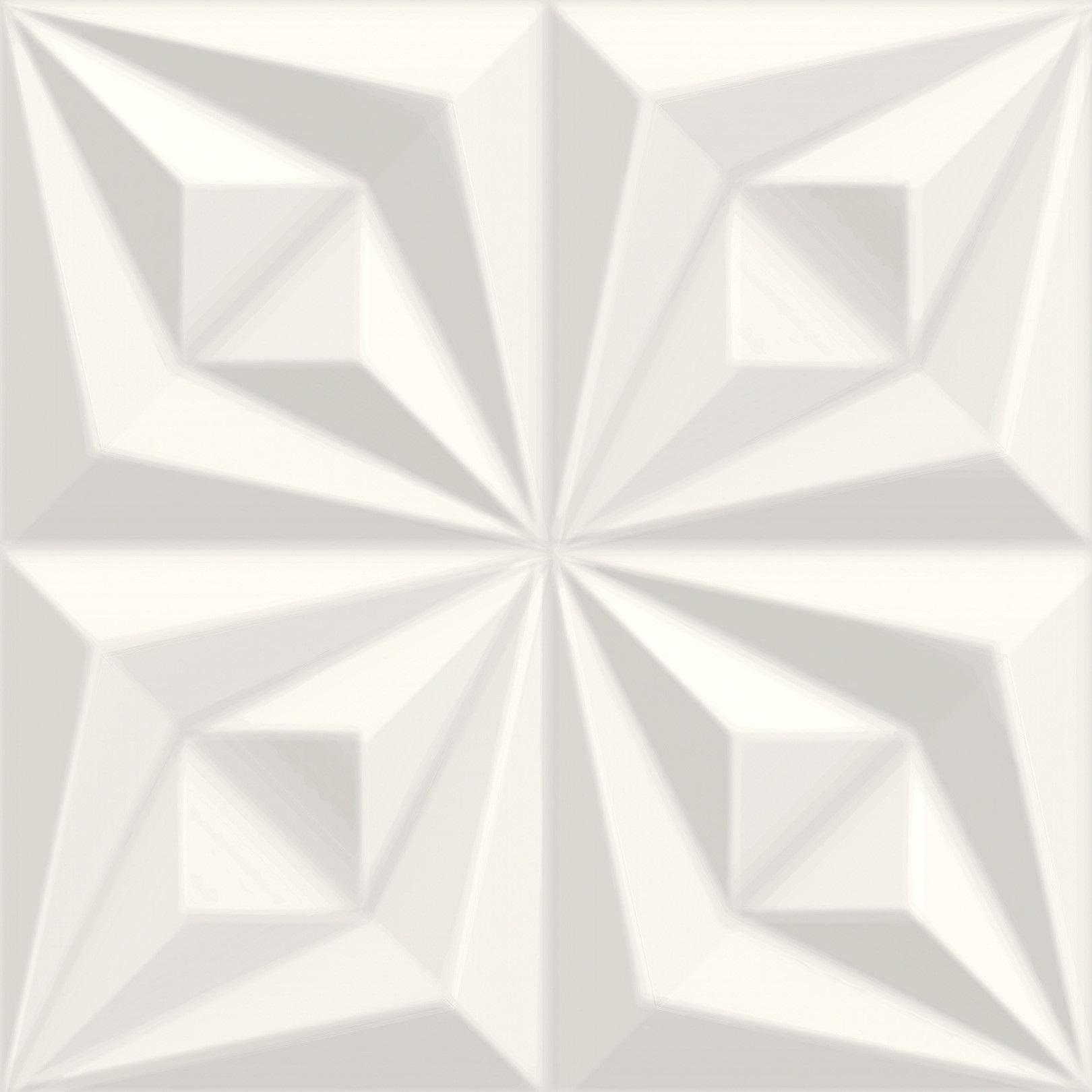 Revestimento Drapeado Branco 58x58 - Peça