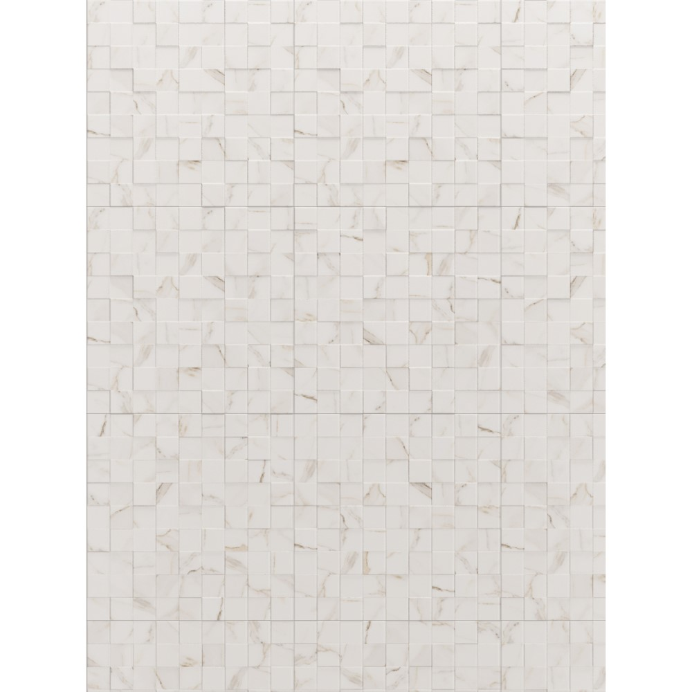 Revestimento Simetria Marble WH 60x60cm Cx.1,70m²