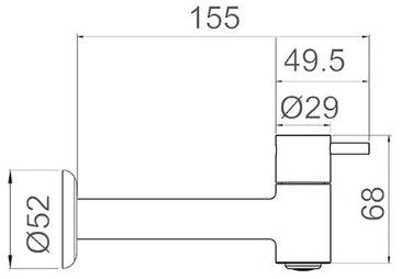 Torneira para Pia Longa Swan 1160 C-42