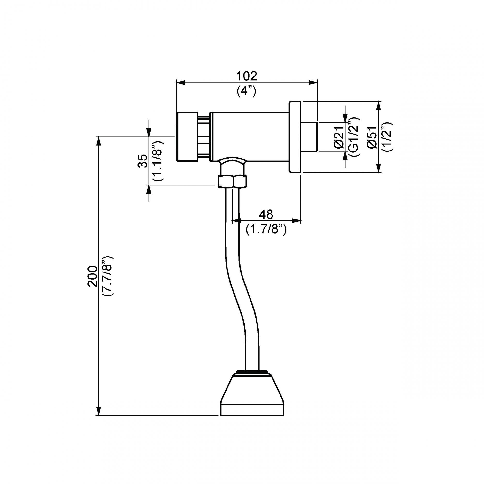 Válvula Pressurizada para Mictório Dn15 Permatic