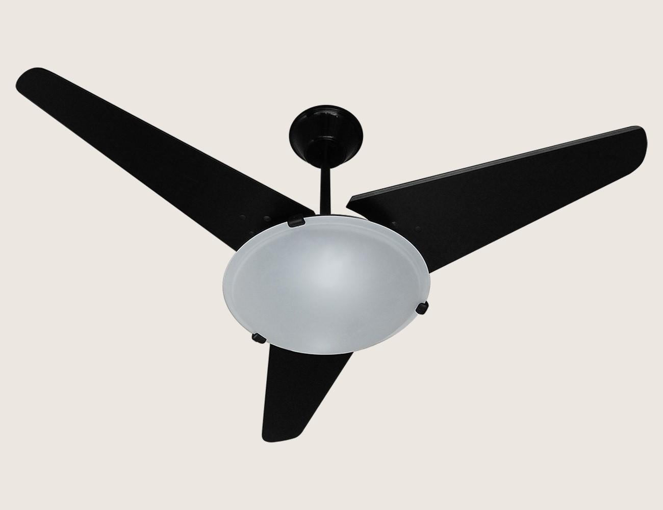Ventilador Teto Samatra 3 Pás 127V - Preto