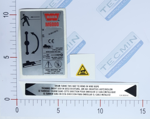 Adesivo Ident. Guincho Warn M6000 - 38302