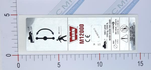 Adesivo Ident. Guincho Warn Nameplate CEM12000 - 38420