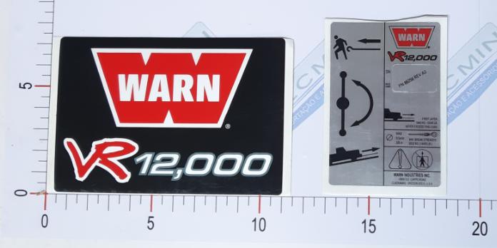 Adesivo Ident. Guincho Warn VR12000 - 92036VR