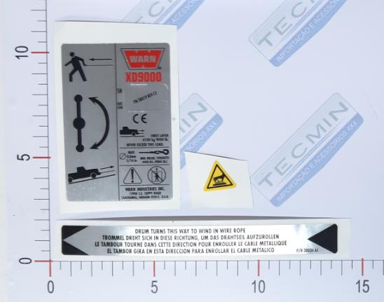Adesivo Ident. Guincho Warn XD9000 - 38306