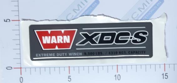 Adesivo Ident. Guincho Warn XDC-S - 38355