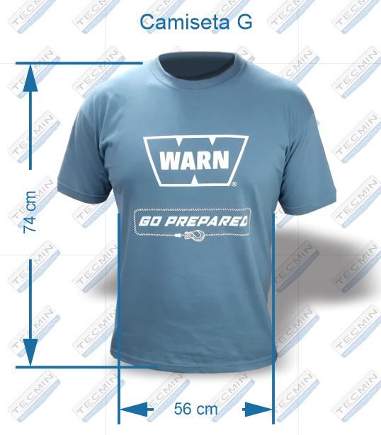 Camiseta Warn Cinza G - W-CWCG