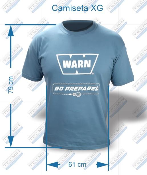 Camiseta Warn Cinza XG - W-CWCXG