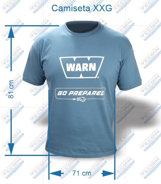Camiseta Warn Cinza XXG - W-CWCXXG