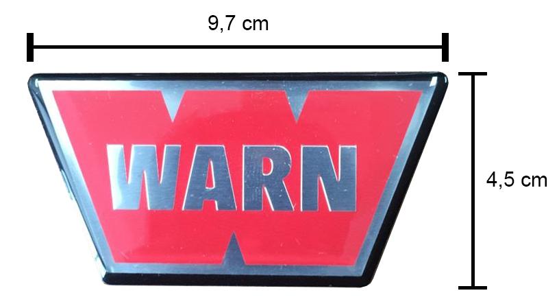 Emblema ( adesivo ) resinado WARN - 98398