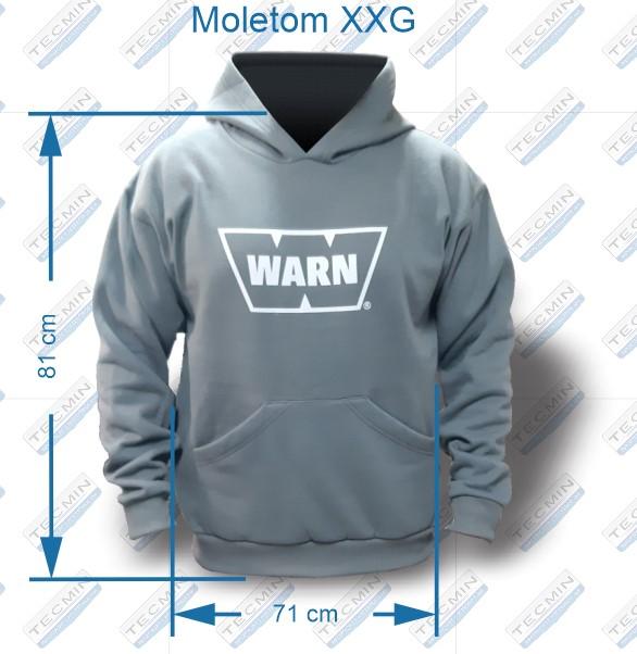 Moletom Canguru Warn Cinza XXG - W-MCWCXXG