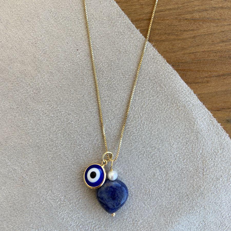 Corrente olho grego azul