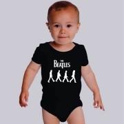 Body Beatles Manga Curta Preto