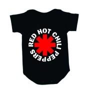 Body Manga Curta Red Hot Chill Peppers Preto