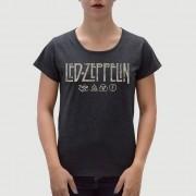 Camiseta Feminina Adulto LED ZEPPELIN Preta