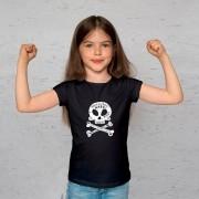 Camiseta Infantil Caveira Little Rock Preta